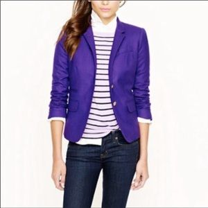 J. Crew purple schoolboy blazer